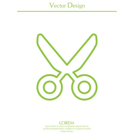 scissors line icon