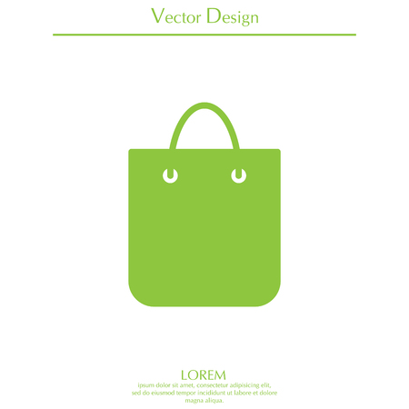 acquirement: Cool shopping bag - vector icon
