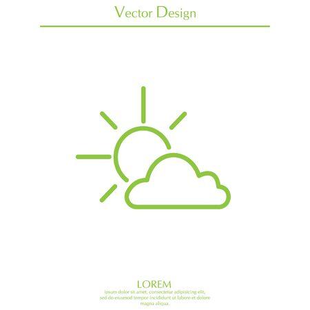 Sun cloud icon.