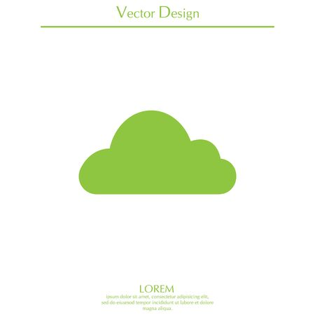 Cloud icon. Vector illustration Illustration