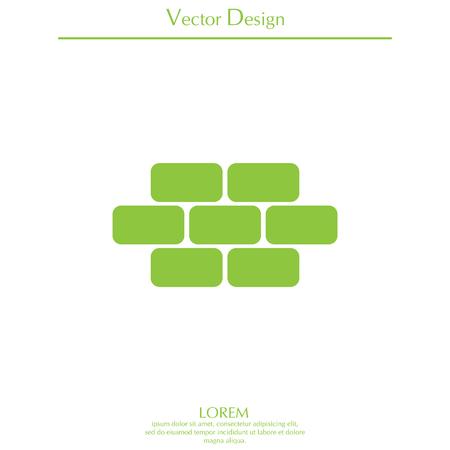 masonry: bricks (brickwork, masonry), icon