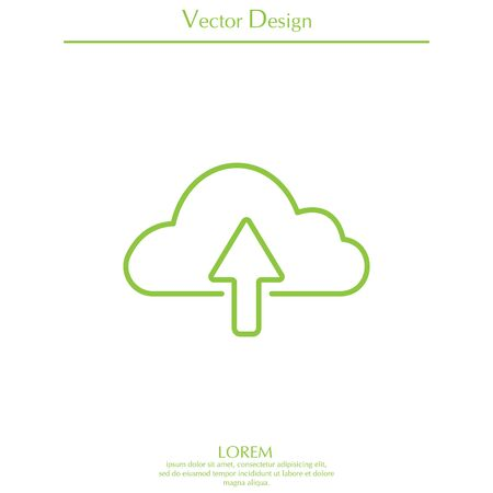 storage device: cloud upload line icon