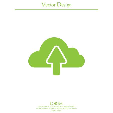 storage device: cloud upload icon Illustration