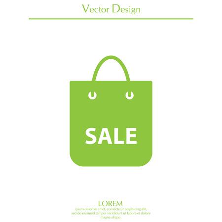 Cool sale shopping bag - vector icon