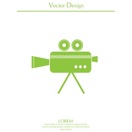 Cinema camera icon Illustration