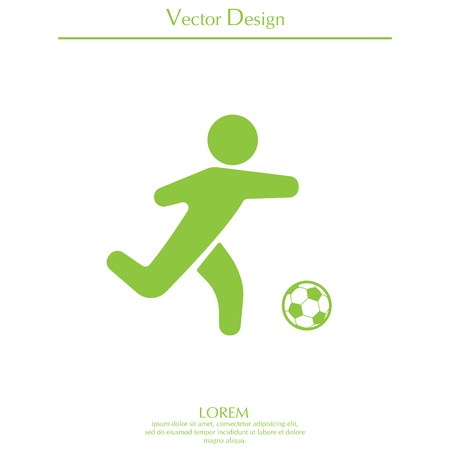 football (soccer) player silhouette with ball