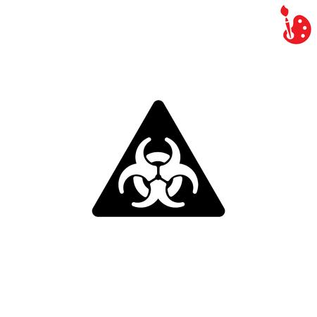 plutonium: Web icon. Radiation hazard Illustration