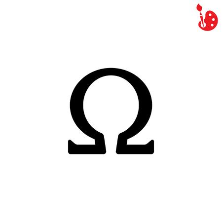 Web icon. Omega symbol Stock Vector - 74003617
