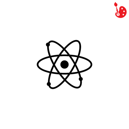 atomic symbol: Web icon. Atom. vector illustration Illustration