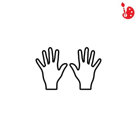 Web line icon. Left and right hands, bunch of fives
