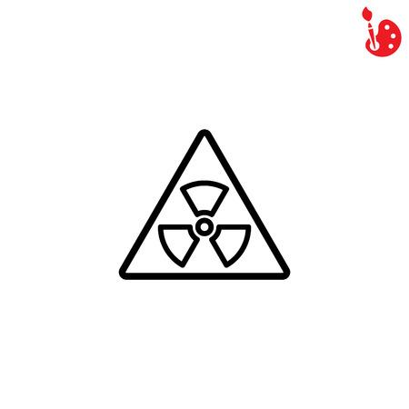 fission: Web line icon. Radiation hazard Illustration