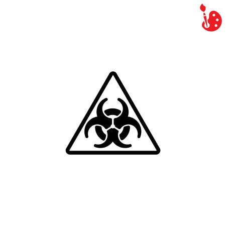 irradiation: Web icon. Radiation hazard Illustration