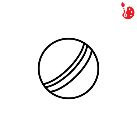 Web line icon. Ball, childrens ball Ilustracja