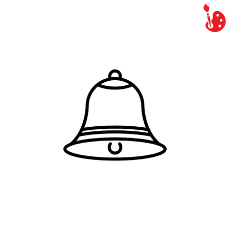 ring tones: Web line icon. Bell