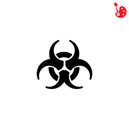 plutonium: Web icon. Radiation hazard, biohazard
