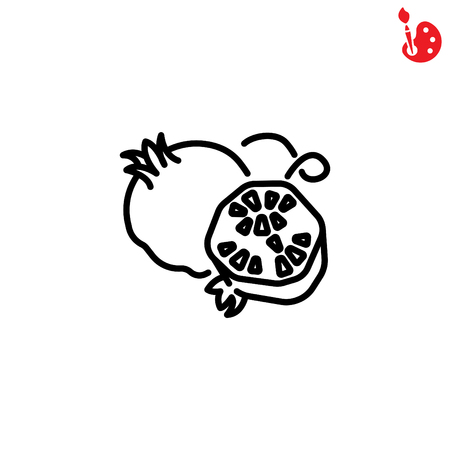 Web line icon. Garnet