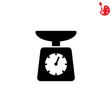 ounce: Web line icon. Kitchen scales Illustration