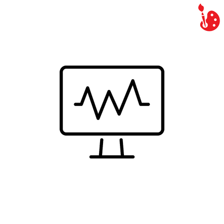 Web line icon. Pulse monitoring. Illustration