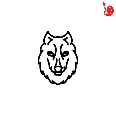 Web line icon. Wolf; wild animals