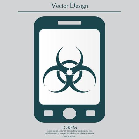 bane: Biohazard symbol. vector sign isolated