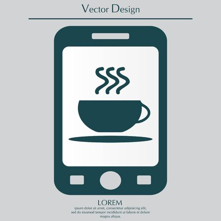 long bean: Coffee cup icon Illustration