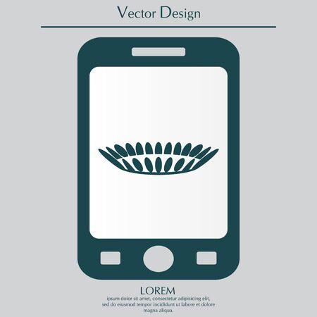 gas stove: gas burner icon. vector design Illustration