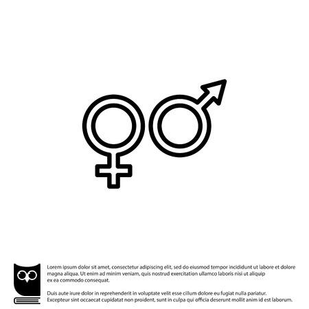 Web Line Icon Gender Symbol Symbols Of Men And Women Royalty Free