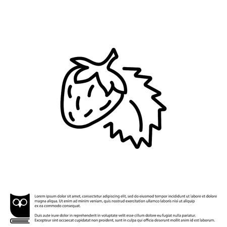 Web line icon. Strawberry