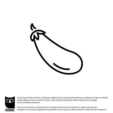sappy: Web line icon. Aubergine, eggplant Illustration