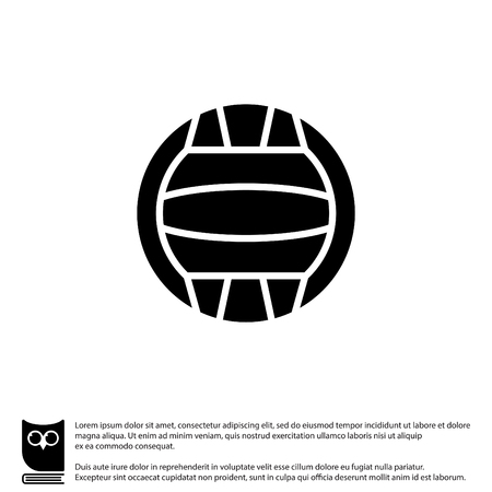 Web icon. Water polo
