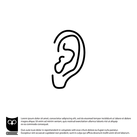 Web line icon. Ear Ilustrace