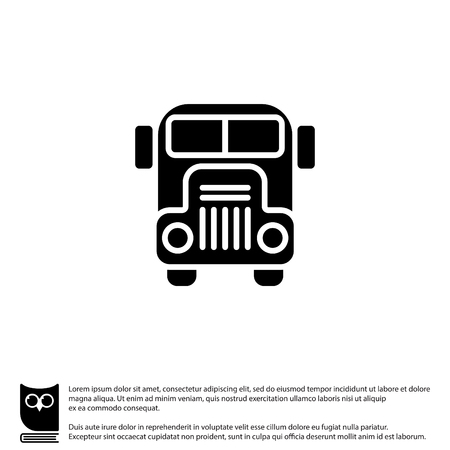 schoolbus: Web icon. School bus
