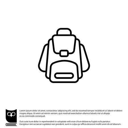 Web line icon. Knapsack