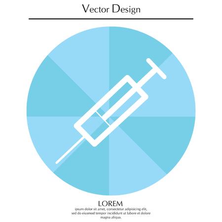 Syringe icon Illustration