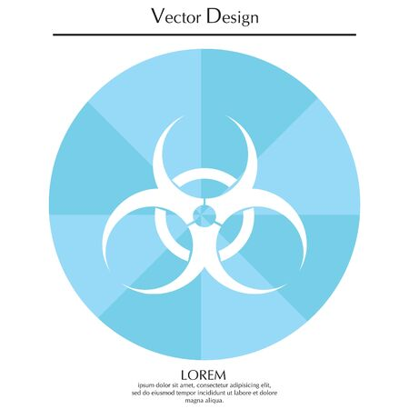 contagion: Biohazard symbol. vector sign isolated