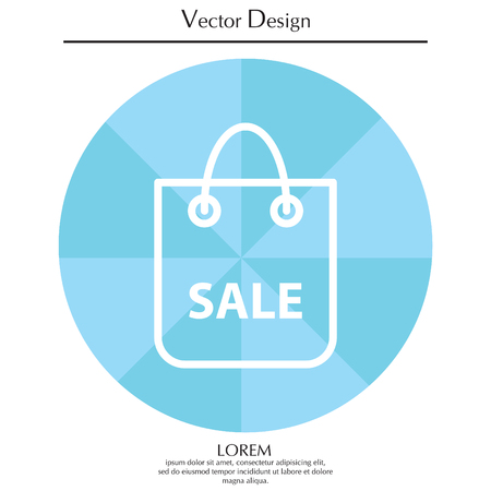 acquirement: Shopping bag - vector line icon