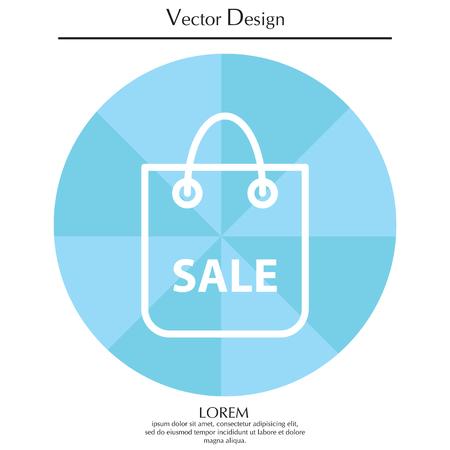 Shopping bag - vector line icon