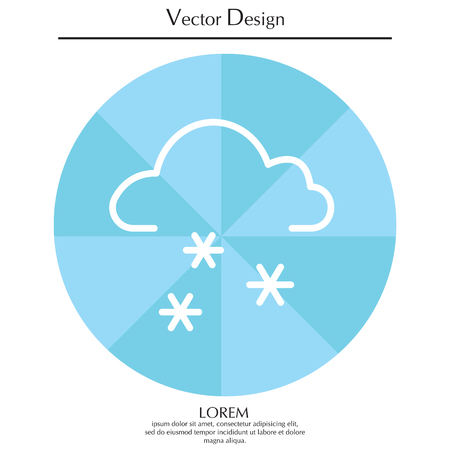 Icon of snow Illustration