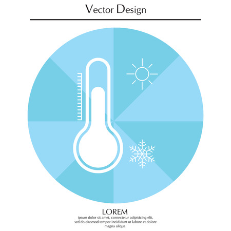 balanza de laboratorio: Thermometer icon , vector illustration Vectores