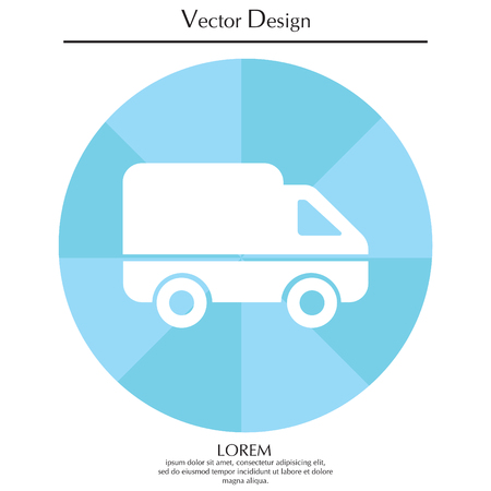 semitruck: Delivery Truck icon. Vector illustration. Illustration