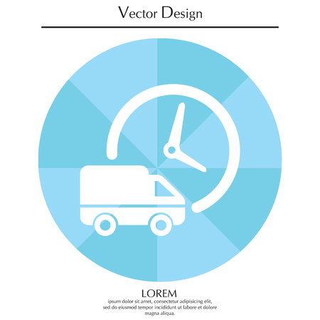 Fast delivery icon (silhouette). shipping truck isolated. vector illustration Illustration