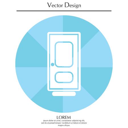 doorknob: door vector icon Illustration