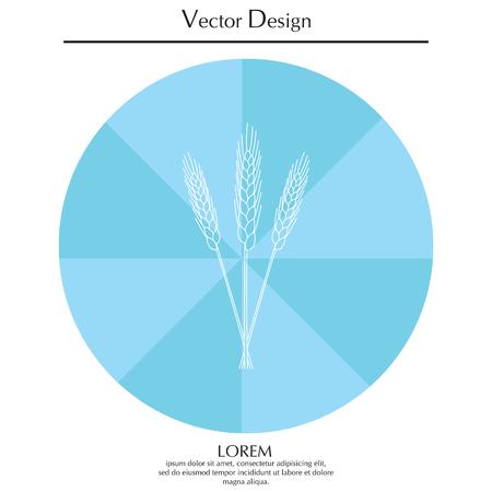 Ears of Wheat icon Illustration