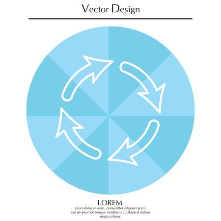 Vector update lijn pictogram