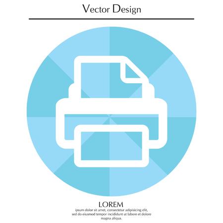Printer icon, vector illustration. Flat design style Illustration