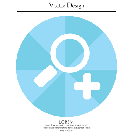 Simple web icon vector zoom Illustration