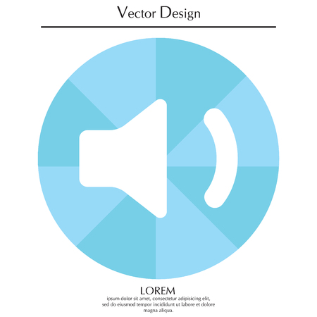 Volume low sign, vector design for website