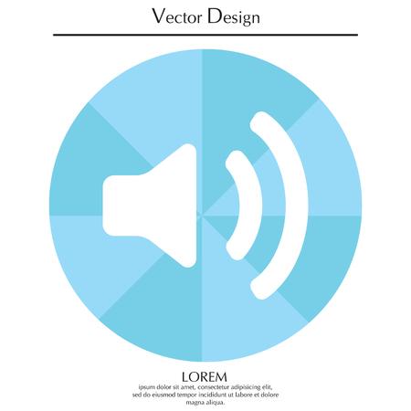 Volume high icon. vector design. Illustration