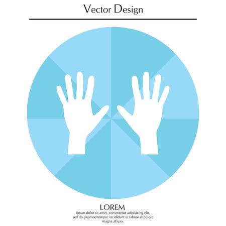 Hand icon vector Illustration