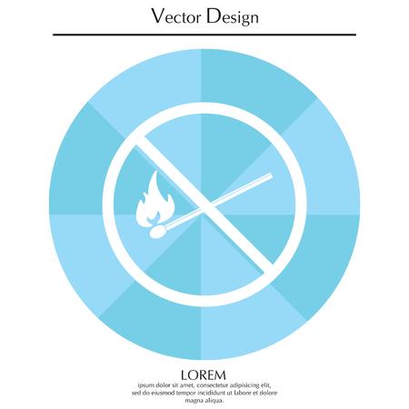 No fire sign icon